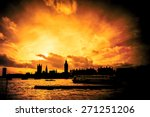blazing sunset abstract of the... | Shutterstock . vector #271251206