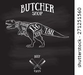 Butcher Cuts Scheme Of Dinosaur....