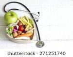 healthy food in heart diet... | Shutterstock . vector #271251740