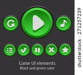 game ui elements green color