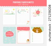 romantic and love cards  notes  ... | Shutterstock .eps vector #271258208