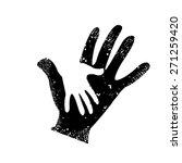 Hand In Hand Adult Baby. Vector