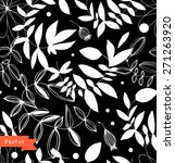 decorative black and white... | Shutterstock .eps vector #271263920