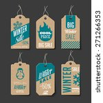 collection of cardboard sales... | Shutterstock .eps vector #271266353