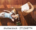 Senior Woman With Her Dog On A...