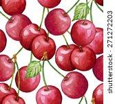 vector watercolor cherry... | Shutterstock .eps vector #271272203