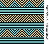 seamless geometric striped... | Shutterstock .eps vector #271278359