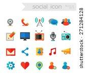 flat detailed social network...