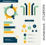 flat minimalistic infographics... | Shutterstock .eps vector #271289354