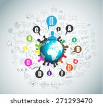 flat style concept for social... | Shutterstock . vector #271293470