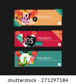 set of banners with stickers ... | Shutterstock .eps vector #271297184