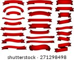set of red banners and ribbons. ... | Shutterstock .eps vector #271298498