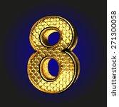 8 golden letter   Shutterstock .eps vector #271300058