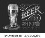 illustration of chalk beer... | Shutterstock . vector #271300298