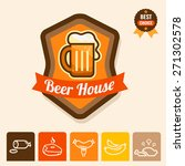 label with beer mugs and the... | Shutterstock .eps vector #271302578