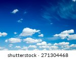 blue sky with clouds | Shutterstock . vector #271304468