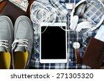 set of trip stuff  closeup   Shutterstock . vector #271305320