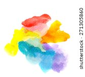 rainbow abstract watercolors.... | Shutterstock . vector #271305860