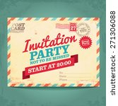invitation postcard | Shutterstock .eps vector #271306088