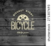 bicycle badges logos and labels ... | Shutterstock .eps vector #271307693