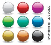 glossy buttons   Shutterstock .eps vector #27130837