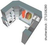 interior closet cutaway... | Shutterstock .eps vector #271318280