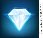 shiny diamond background. flyer ... | Shutterstock .eps vector #271321010