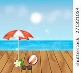 summer background. tropical sea ... | Shutterstock .eps vector #271321034