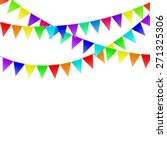 colorful flags isolated on...   Shutterstock .eps vector #271325306