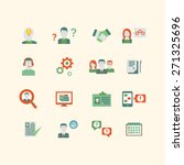 human resources icons  eps 10 ... | Shutterstock .eps vector #271325696