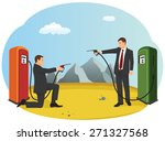 business people are pointing... | Shutterstock .eps vector #271327568