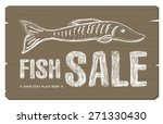 fish sale concept banner | Shutterstock .eps vector #271330430