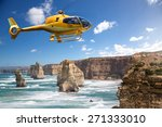 helicopter over the 12 apostles ... | Shutterstock . vector #271333010