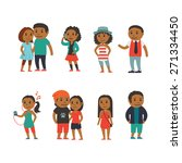 group of people   flat... | Shutterstock .eps vector #271334450