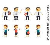 business people   flat...   Shutterstock .eps vector #271334453