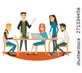 coworking people at a meeting.... | Shutterstock .eps vector #271334456