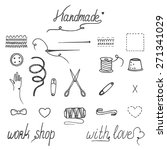 handmade and sewing elements... | Shutterstock .eps vector #271341029