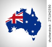 map and flag of australia | Shutterstock .eps vector #271342550