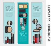 vector  set of vertical flyers... | Shutterstock .eps vector #271342559