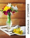 beautiful spring flowers on...   Shutterstock . vector #271348058