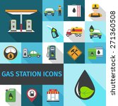 gas station icons flat set with ... | Shutterstock .eps vector #271360508