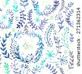 pattern of flowers and grasses... | Shutterstock .eps vector #271362314