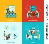 business training design...   Shutterstock .eps vector #271363250