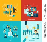 career design concept set with... | Shutterstock .eps vector #271363256