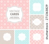 vector set of vintage cards.... | Shutterstock .eps vector #271363829