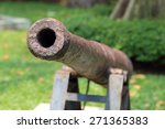 Thai Style Old Cannon At The...