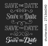 vector wedding design template... | Shutterstock .eps vector #271366040