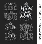vector wedding design template... | Shutterstock .eps vector #271366100