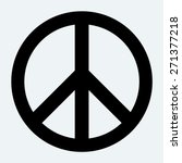 peace sign. | Shutterstock .eps vector #271377218