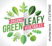 a variety of leafy greens... | Shutterstock .eps vector #271378340